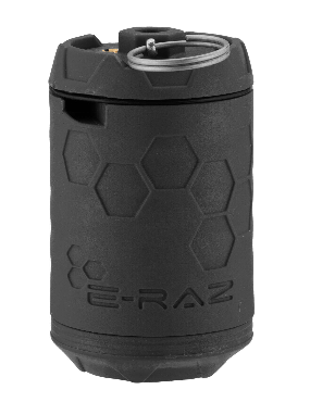 GRENADE A GAZ E-RAZ GRISE.
