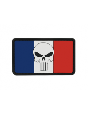 PATCH FRANCE SKULL