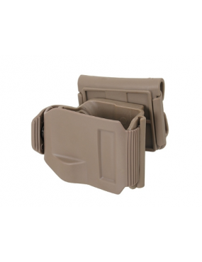 HOLSTER CLIPS TAN POUR GLOCK.